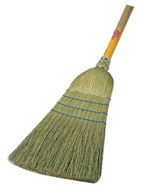 Picture of Corn broom heavy duty- 3 strings/ 1 wire