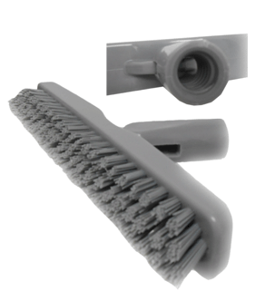 "Picture of Floor brush 9"" grey for confined area"