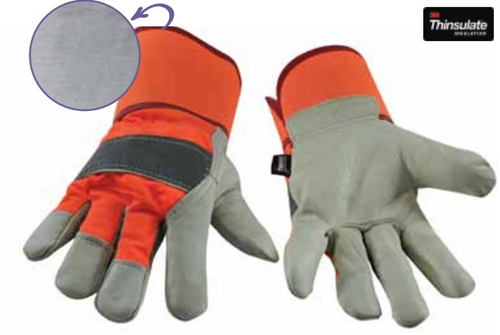 Picture of Work glove in leather with thinsulate LINER