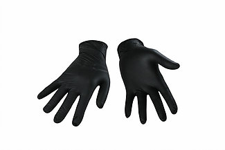 Photo de Gant nitrile noir 5 mil