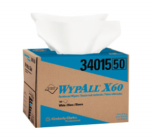 Picture of 34015,  Wypall wiper X 60 white 12.5''x16.8'' box