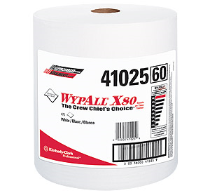 Picture of 41025, Wypall wiper X80 white 12.5''x 13.4'' roll