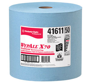 Picture of 41611, Wypall wiper X70 blue 12.5 x13.4'' roll