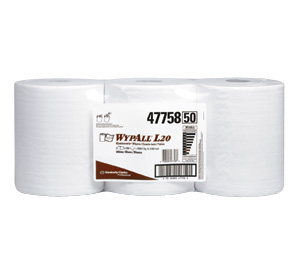 Picture of 47758, Wypall wiper L20 white 10x13.4'' roll