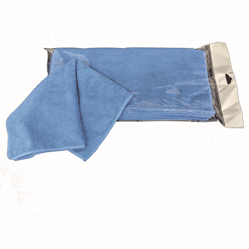 Picture of Blue microfiber cloth 14x14po