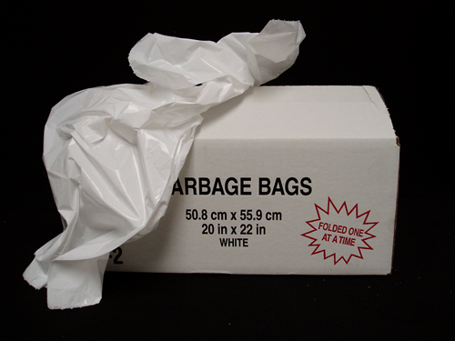 Picture of White garbage bag 20 x 22